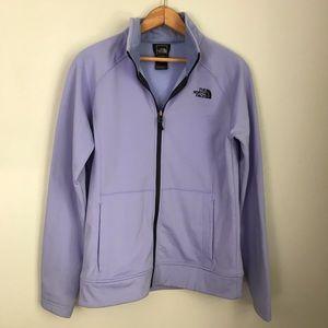 North face light purple jacket size m